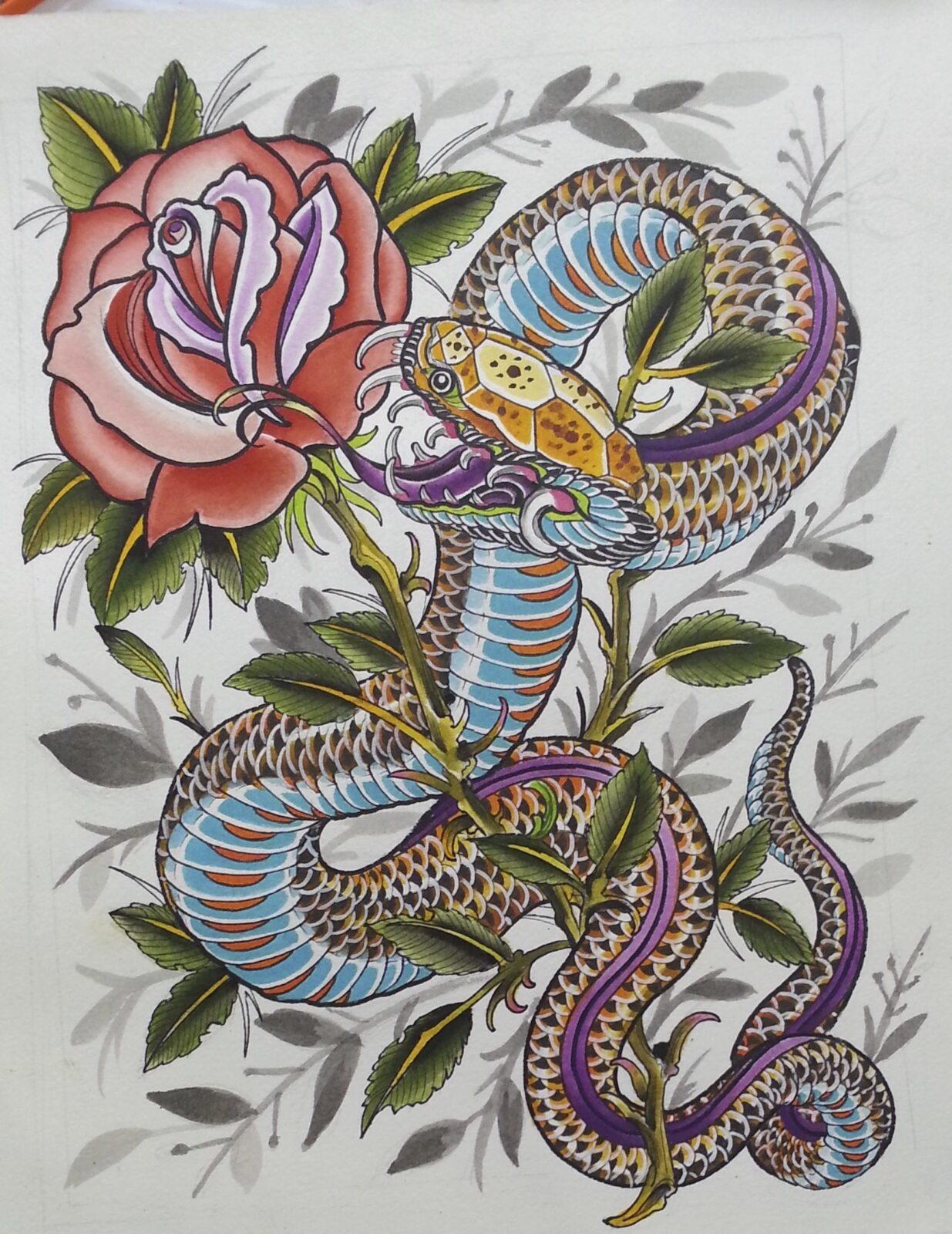 Snake vs Rose Battle