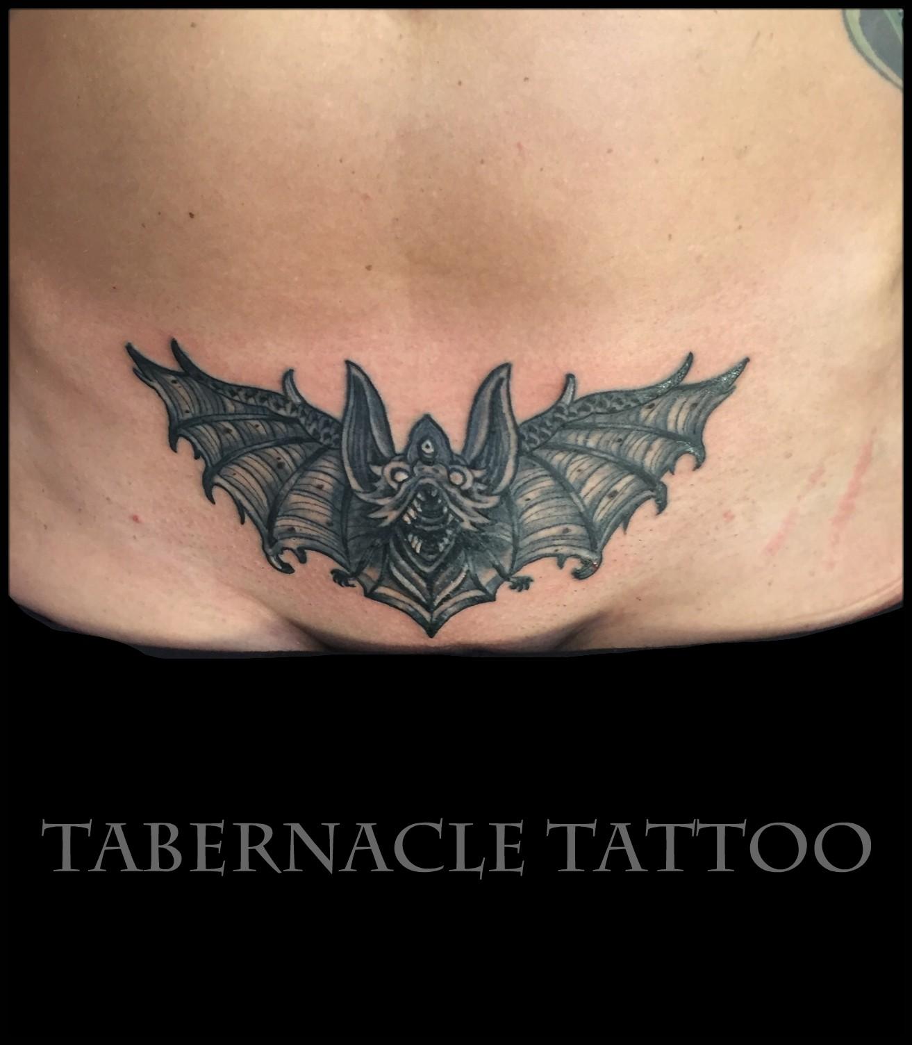Pelvic tattoo on female