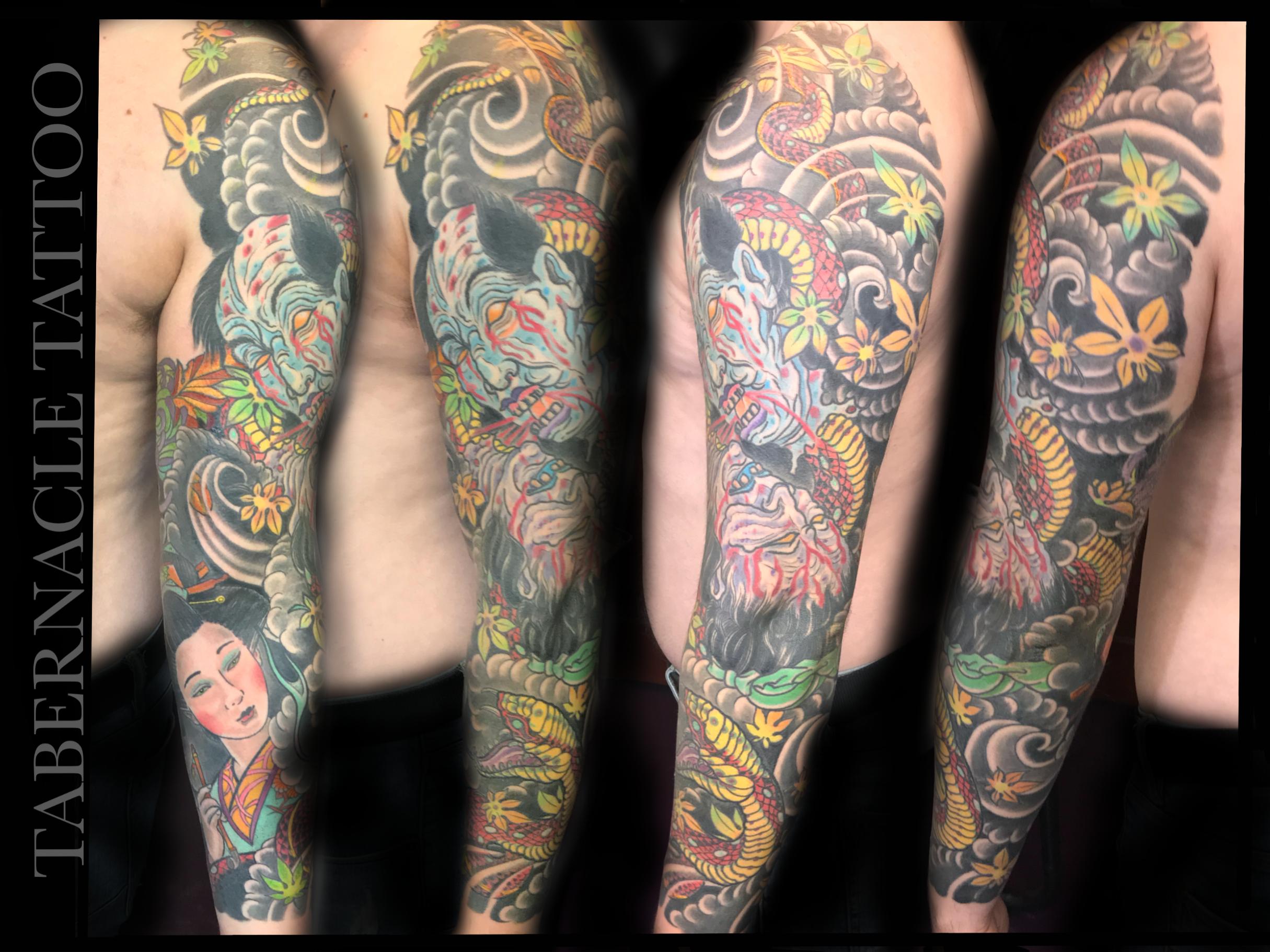 Japanese Namakubi tattoo  irezumi  also known as a severed head  Japanese Geisha Tattoo