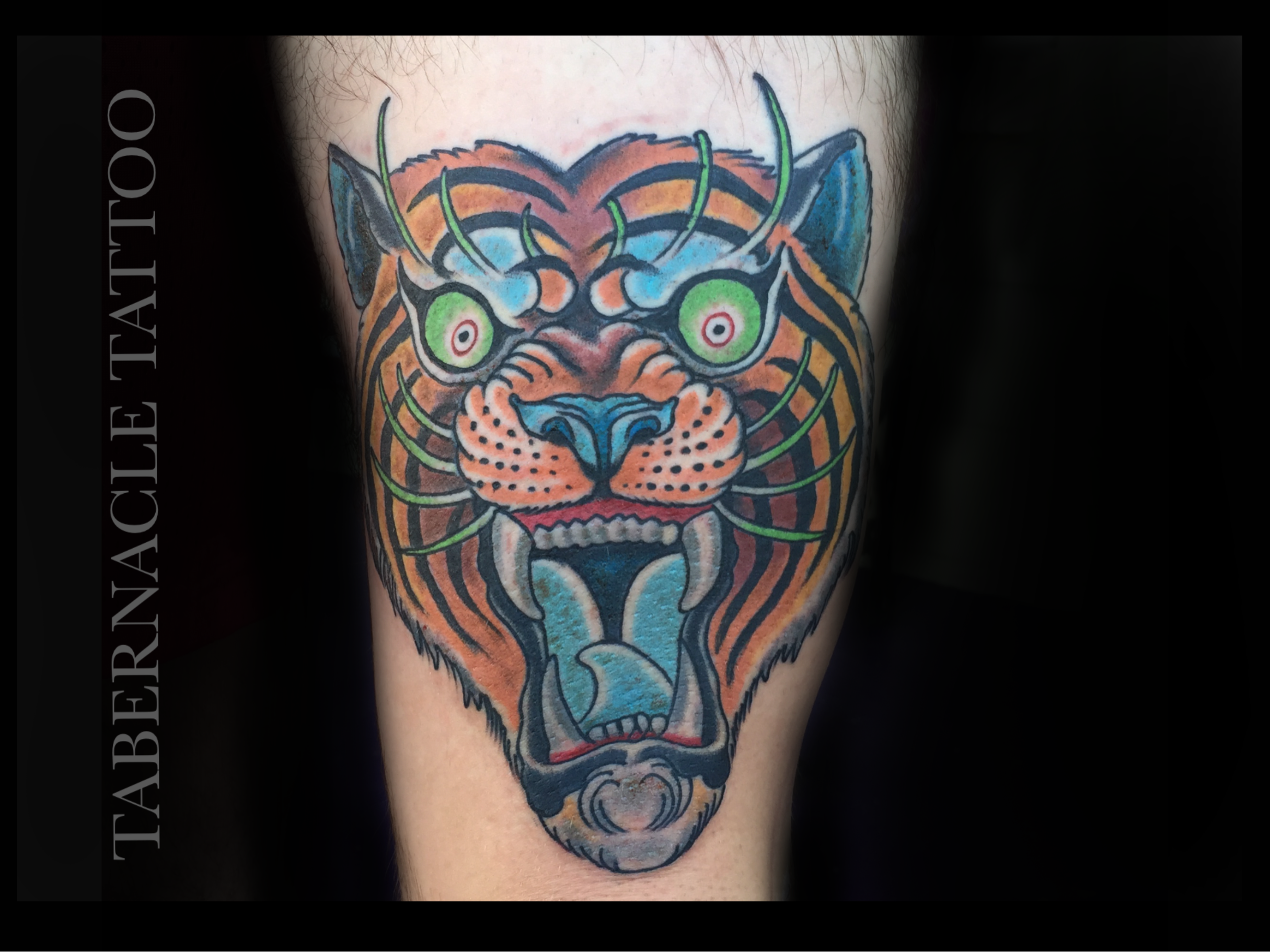 Japanese Tiger Head tattoo|color tattoos|Tiger tattoo
