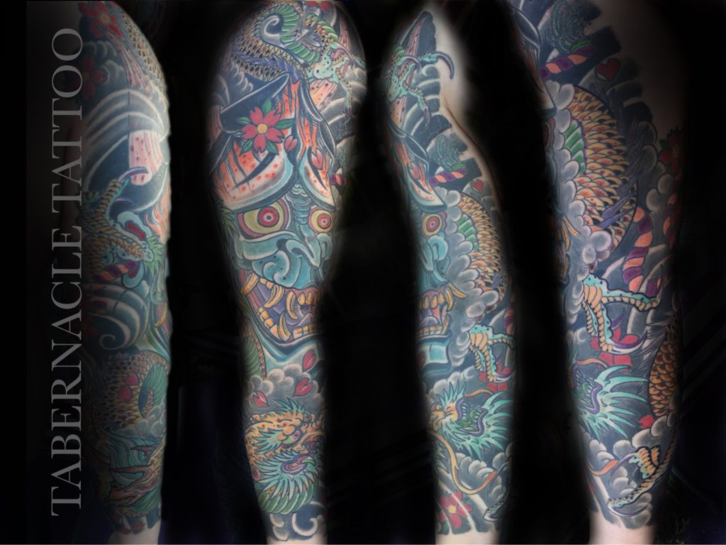 Hannya Tattoo| Dragon Tattoo| Hannya Sleeve| Japanese Tattoo Artist