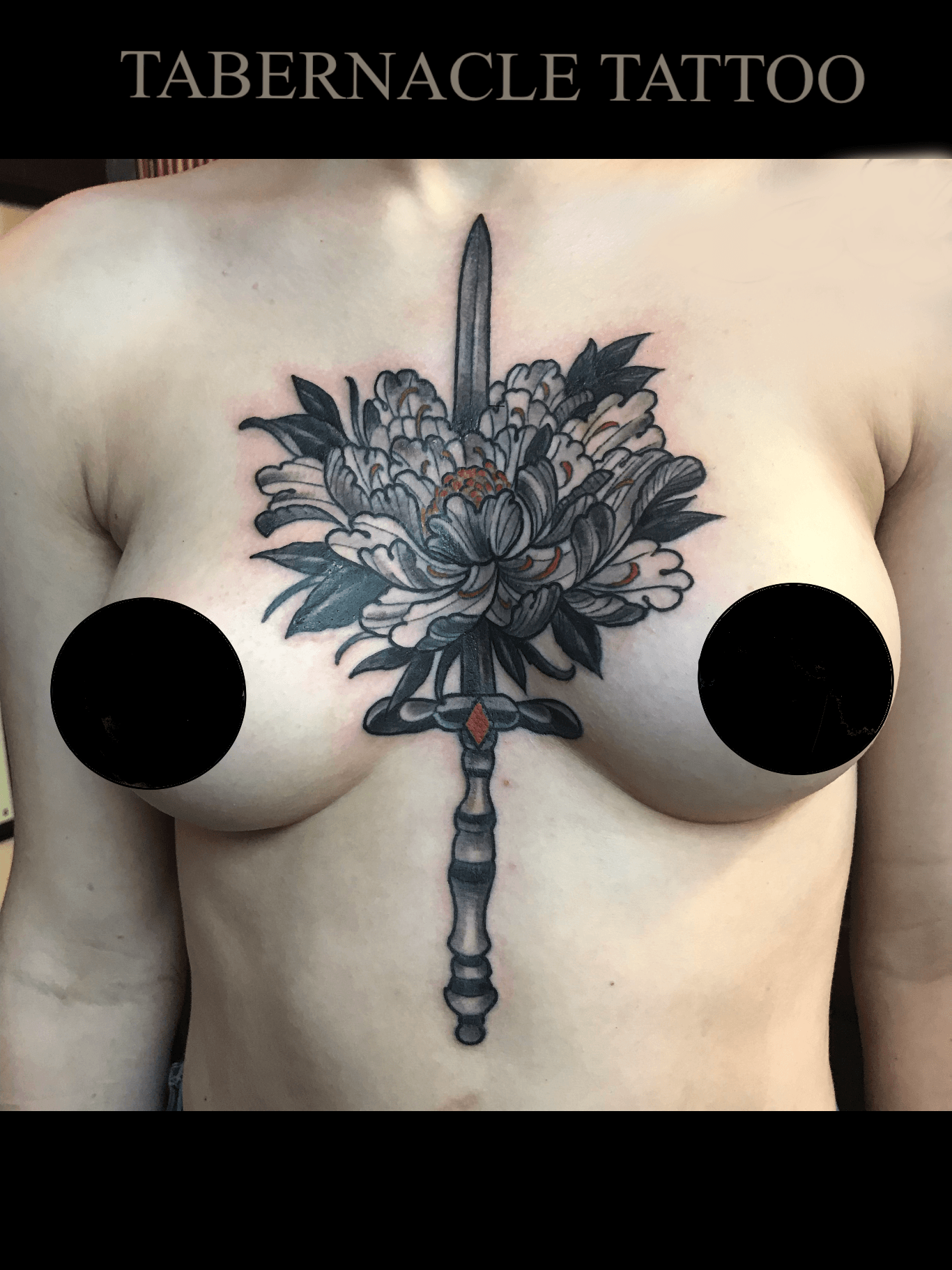Sword through Peony Flower