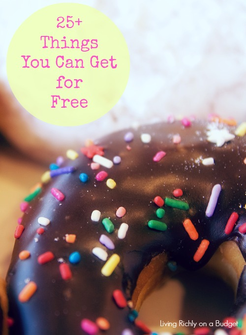 25 things you can get free