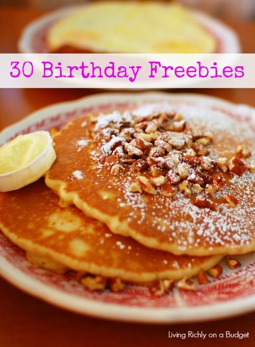 30 birthday freebies