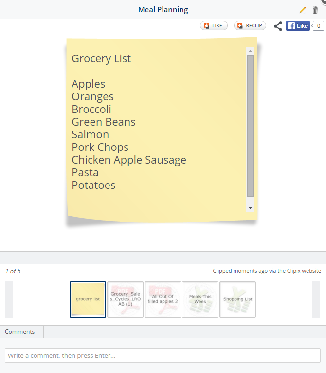 Grocery List on the go