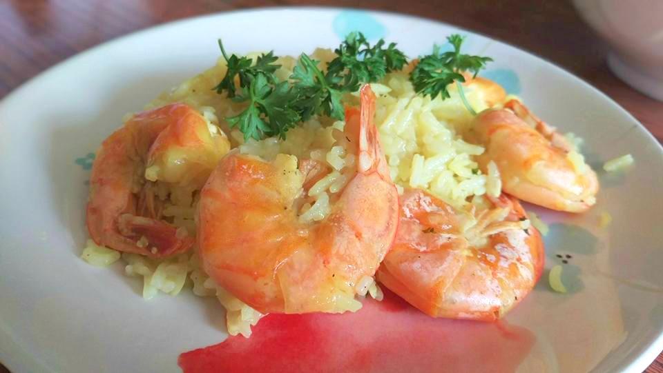 instant pot shrimp scampi paella