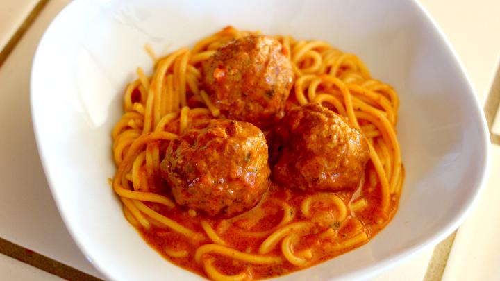Instant Pot Spaghetti and Meatballs 3