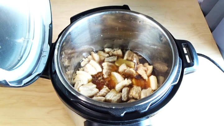 cooked pork belly instant pot