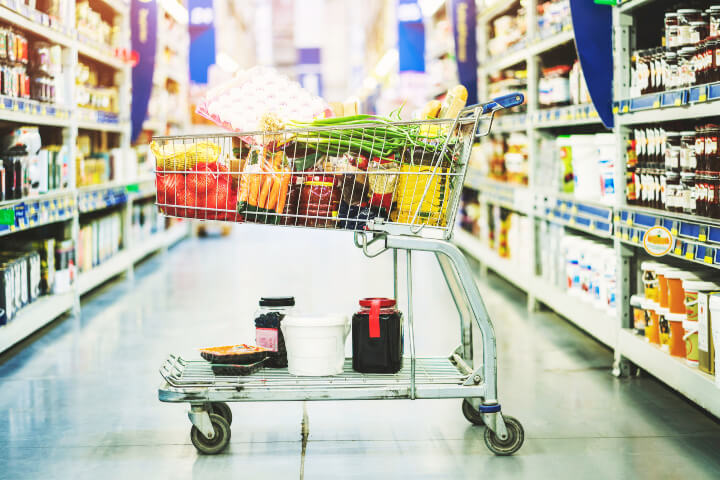 grocery cart grocery sales