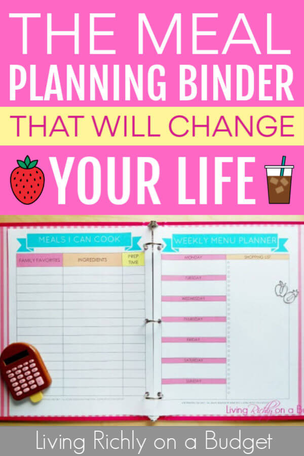 The Meal Planning Binder That Will Change Your Life
