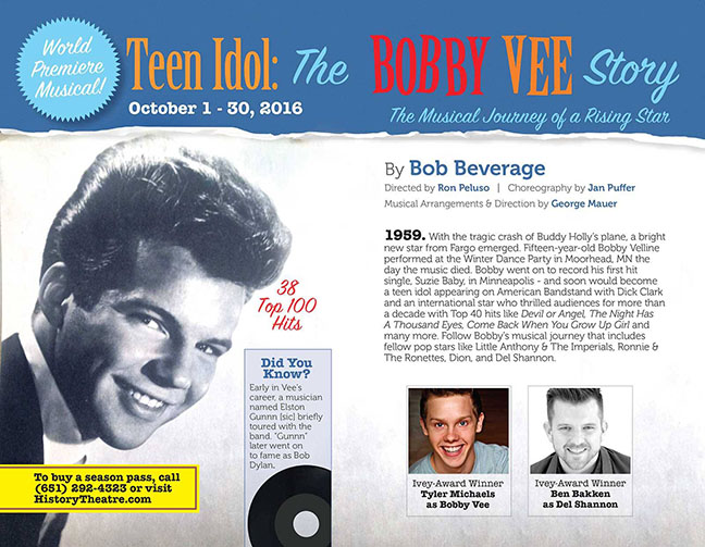 BOBBY VEE – from 15 Year Old  Buddy Holly Fill-in to Enduring Rock and Roll Star #BobbyVee