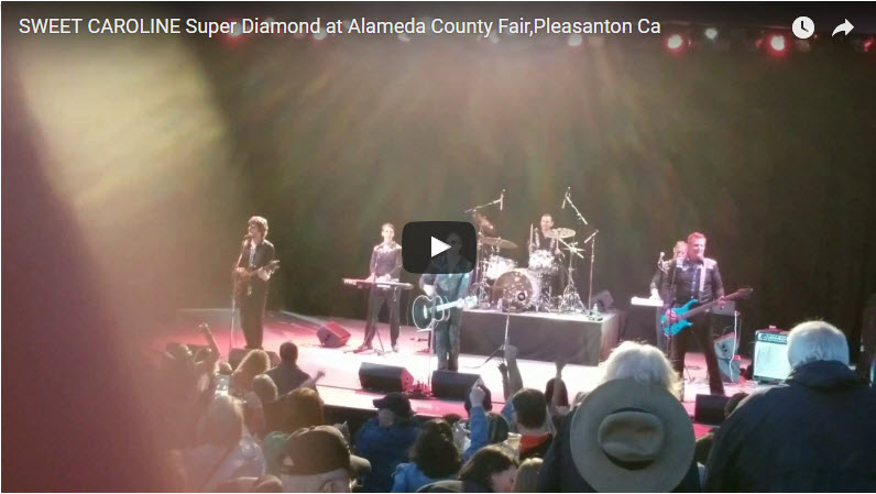 SWEET CAROLINE and other songs with Super Diamond, premier Neil Diamond tribute group  at Alameda County Fair, Pleasanton Ca