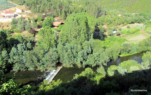 River Alva, from our balcony, Moura Morta