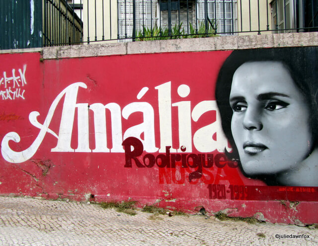 Homage to Amália Rodrigues. Street art in Lisbon