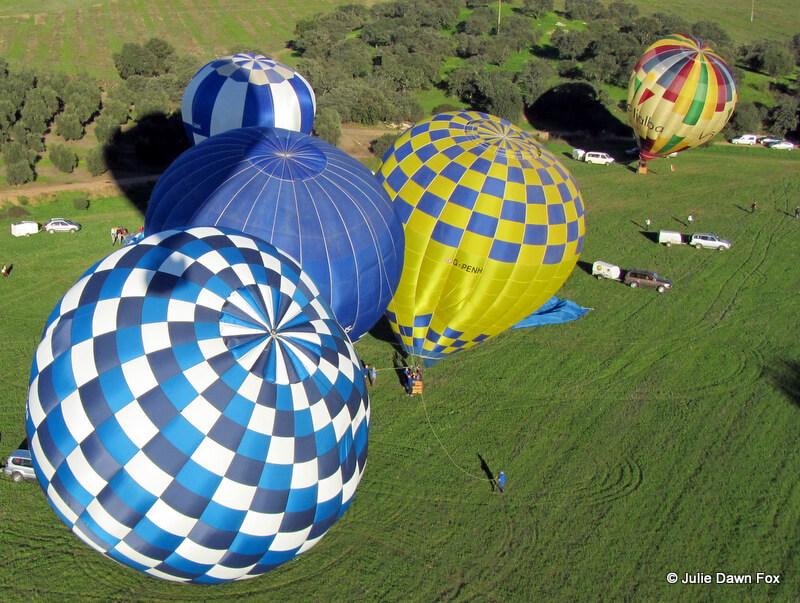 Hot air balloon festival in Portugal