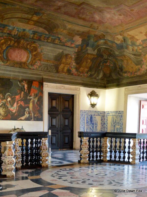 Very grand entrance hall, São Vicente de Fora Monastery, Lisbon, Portugal