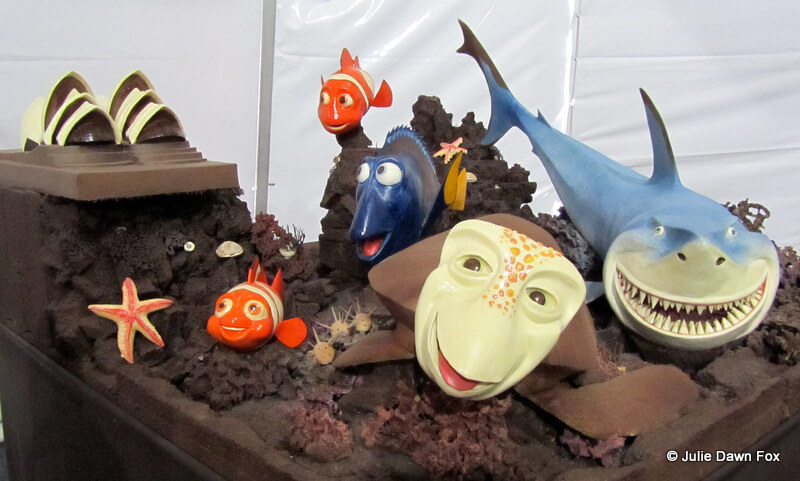 Finding Nemo made of chocolate at the 2012 chocolate festival in Óbidos, Portugal