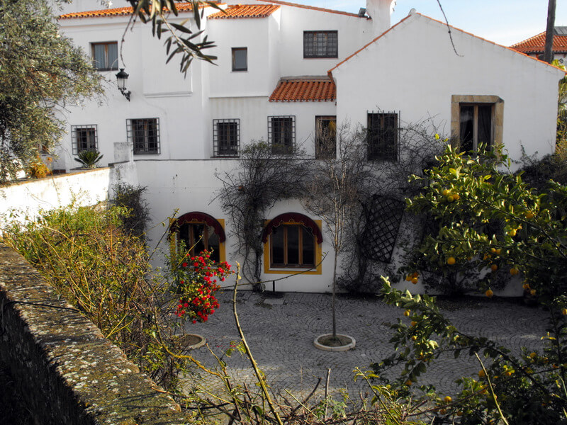 Courtyard inside the Hotel Sao Joao de Deus in Elvas