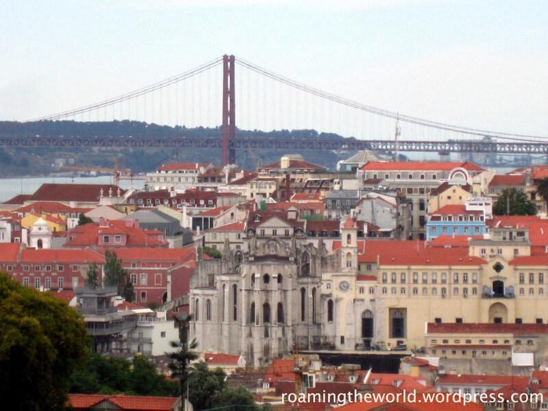 View of Lisbon city centre from Alfama district