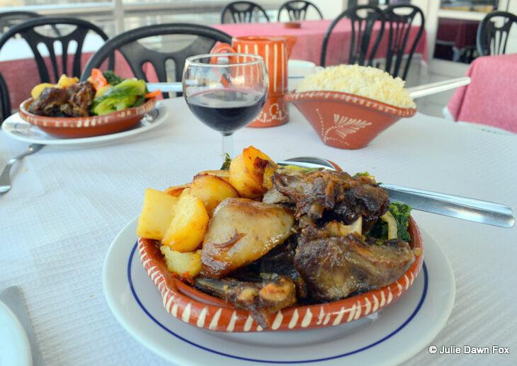 Stewed lamb at Restaurante Estoril, Amarante, Portugal