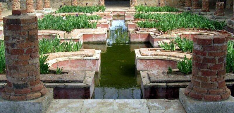 Interior gardens, Conimbriga Roman ruins, Coimbra, Portugal. Photography by Julie Dawn Fox