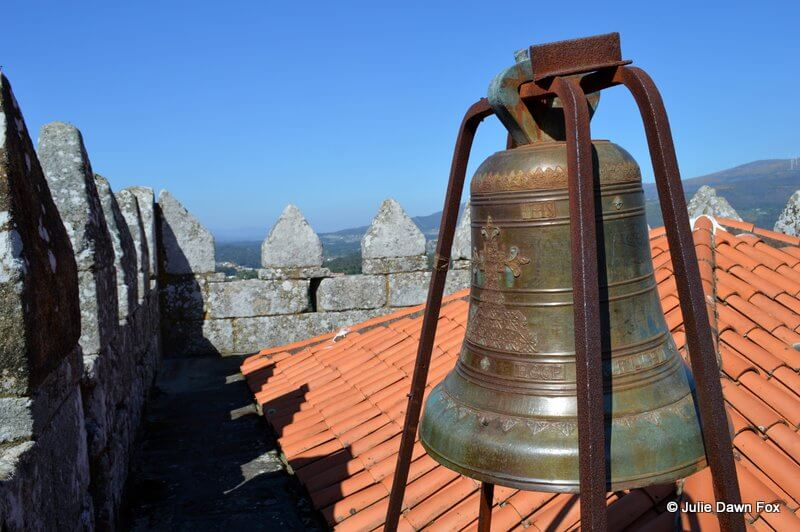 19th century decorated bell, Melgaço castle tower