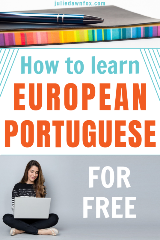 Notebook, girl and laptop. How To Learn European Portuguese For Free