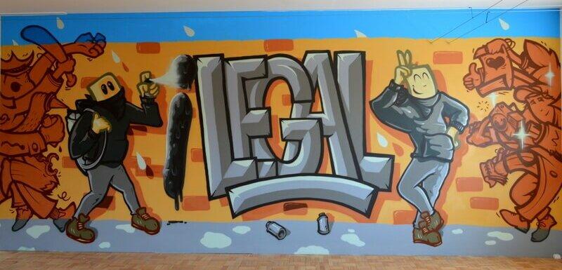 Legalise it, Street Art AXA, Porto