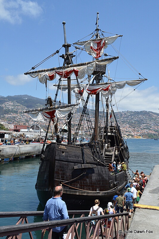 Santa Maria de Colombo replica ship, Funchal, Madeira. One of the things to see and do in Funchal