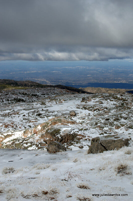 Snow, high up in the Serra da Estrela mountains, central Portugal