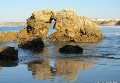 Kissing rocks, Baleal beach in Portugal