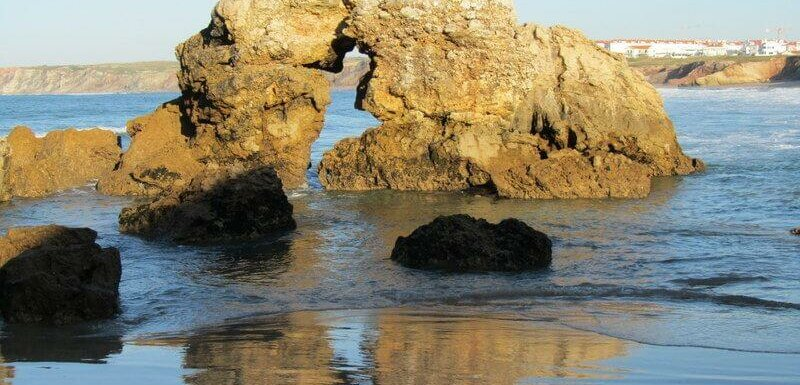 Kissing rocks, Baleal beach in Portugal