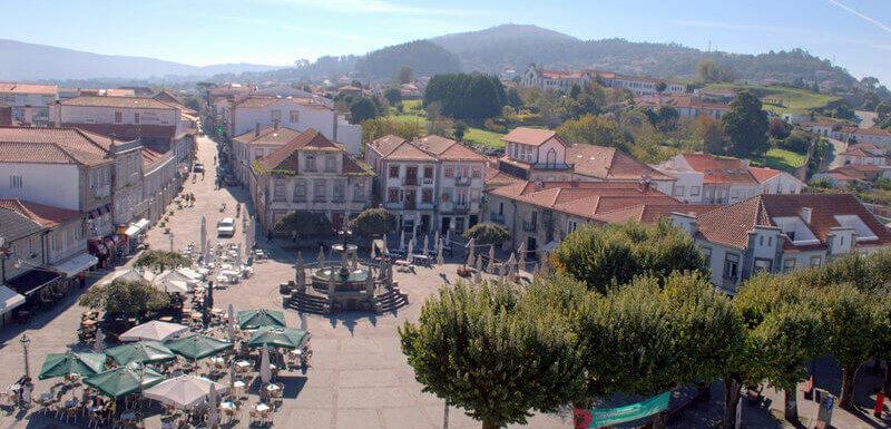 Praça Conselheiro Silva Torres, Caminha, Portugal. Photography by Julie Dawn Fox