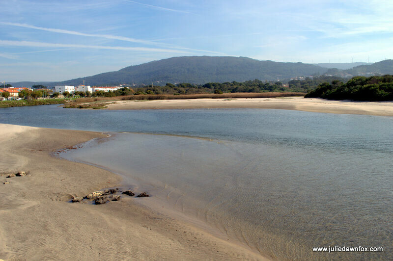 River Âncora and mountains, Vila Praia da Âncora, Portugal. Photography by Julie Dawn Fox