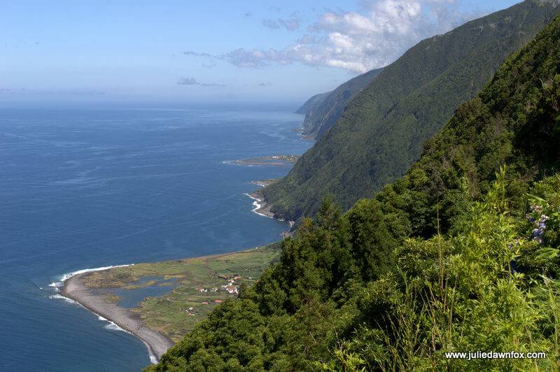 São Jorge's northern coastline, Azores, Portugal. Photography by Julie Dawn Fox
