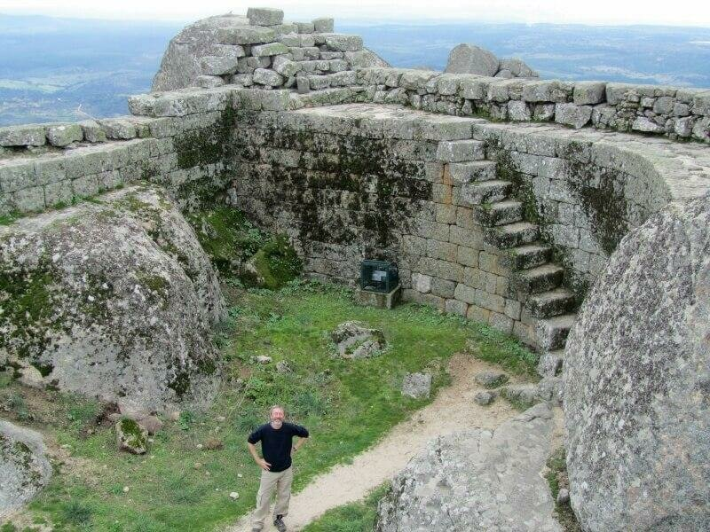 Monsanto Castle, Central Portugal. Boulders and stone steps.