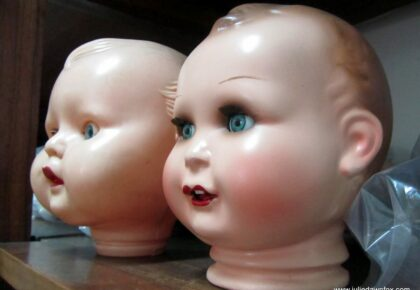 Two doll heads, Doll Hospital, Lisbon