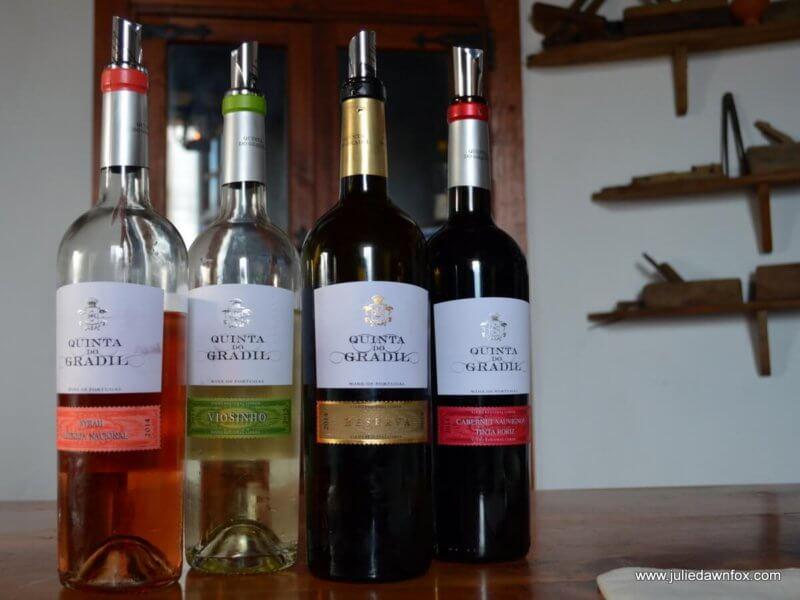 Quinta do Gradil wine tasting session inside a windmill