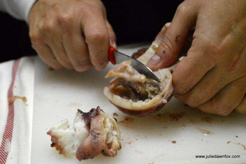 Removing ick from the octopus head