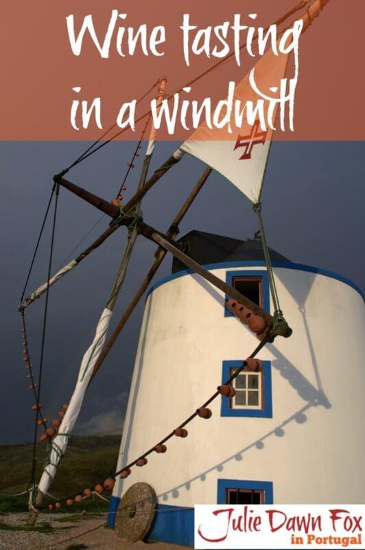 wine tasting in a Portuguese windmill