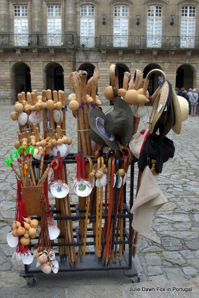 Pilgrim paraphernalia, Santiago de Compostela