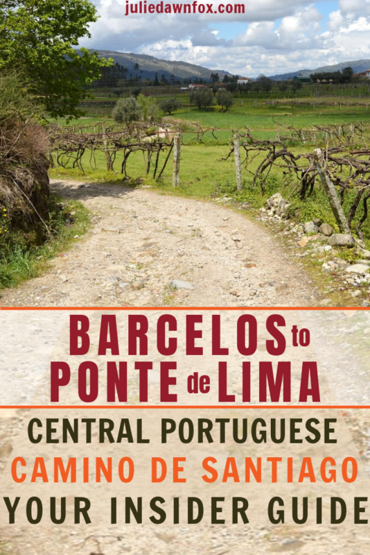 Pathway on Camino. Portuguese Way of St_ James_ Barcelos to Ponte de Lima _ Julie Dawn Fox in Portugal