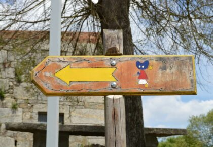 Waymarker in Tui, Portuguese Way of St. James