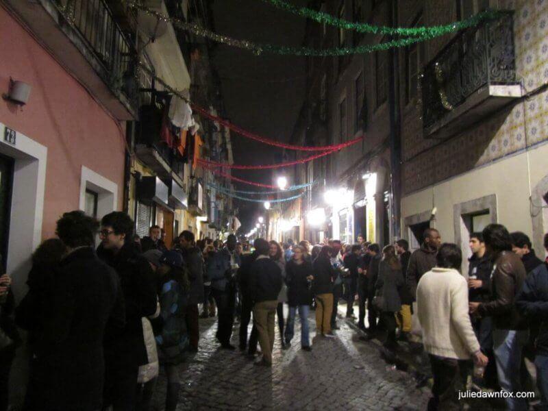 Bairro Alto at night