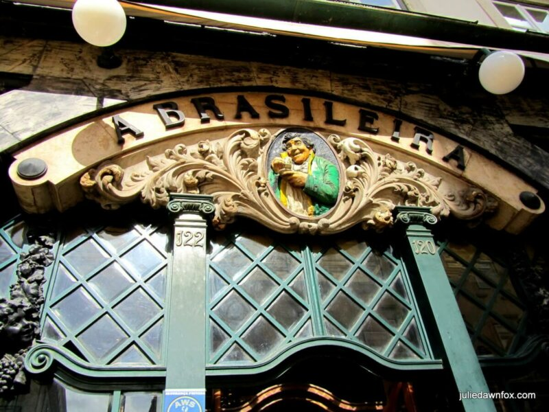Sign above the door of A Brasileira café, Largo do Chiado, Lisbon