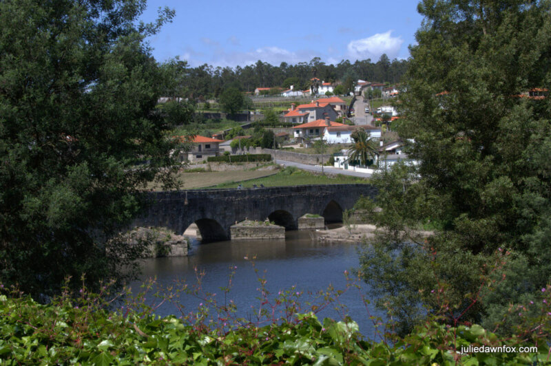 Ponte D. Zamiro near Vilarinho in northern Portugal on the Central Camino Português