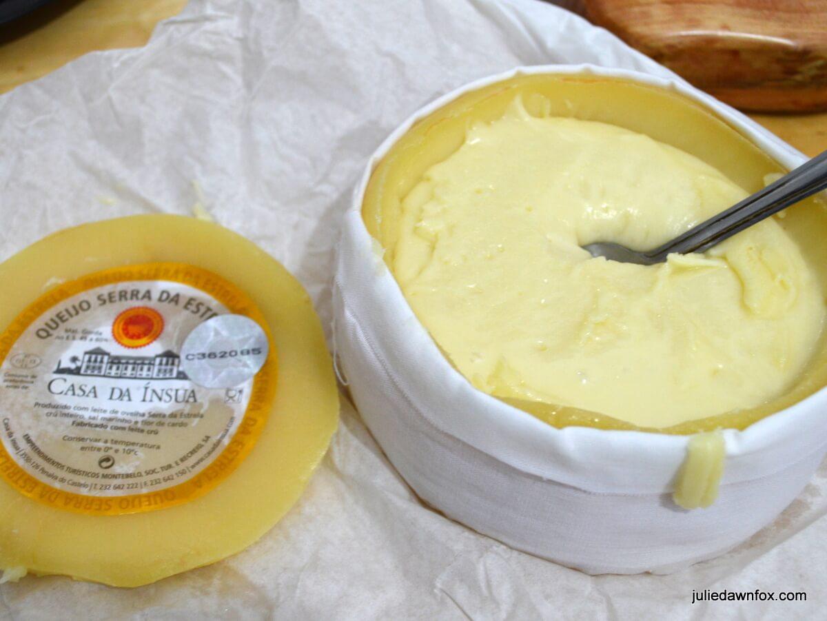 Runny Serra da Estrela cheese