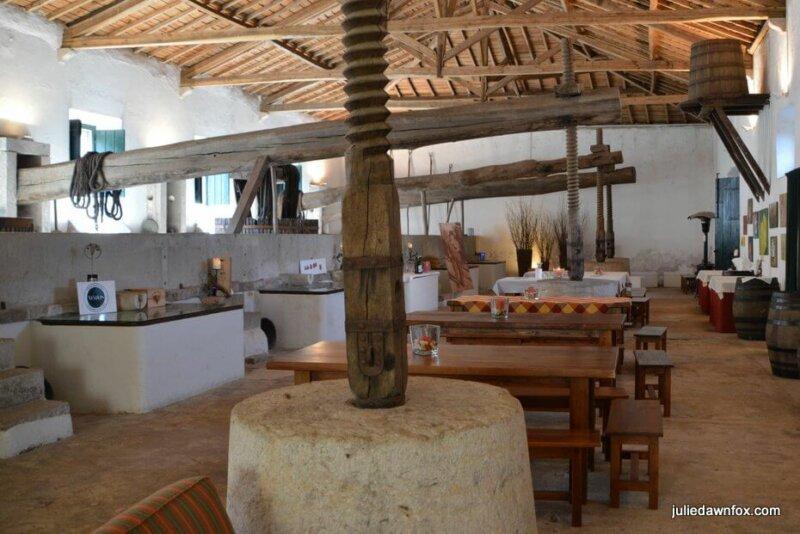 Grape crushers and tasting room, Quinta do Sanguinhal