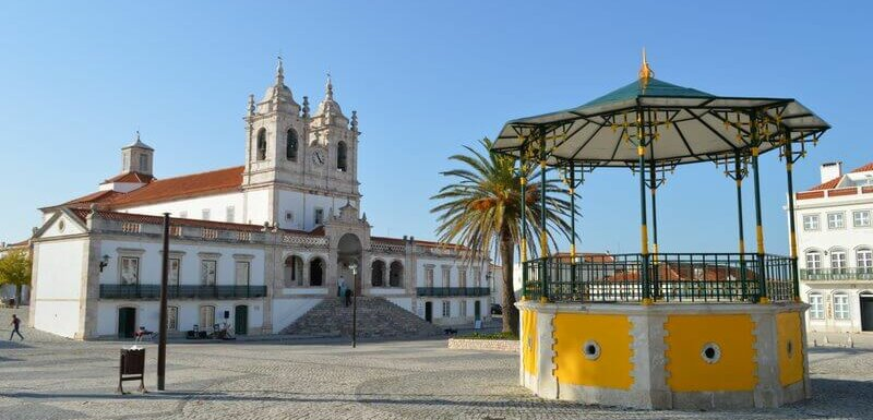 Bandstand and monastery, Sitio, Nazaré. Best time to visit Portugal