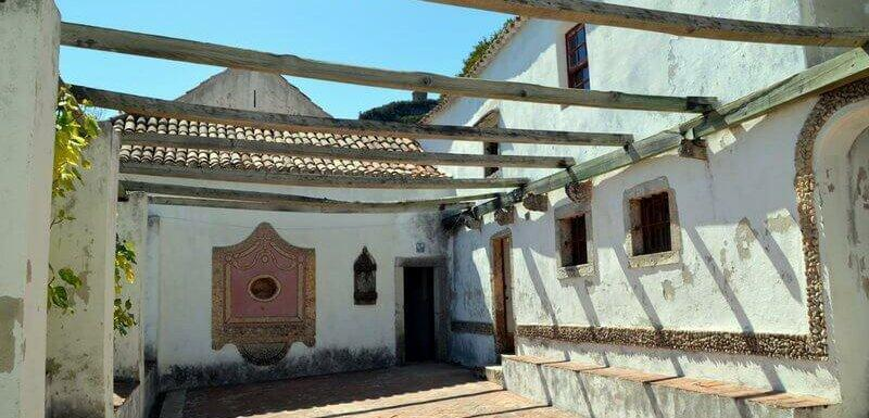 Terrace, Arrábida Monastery near Lisbon, Portugal